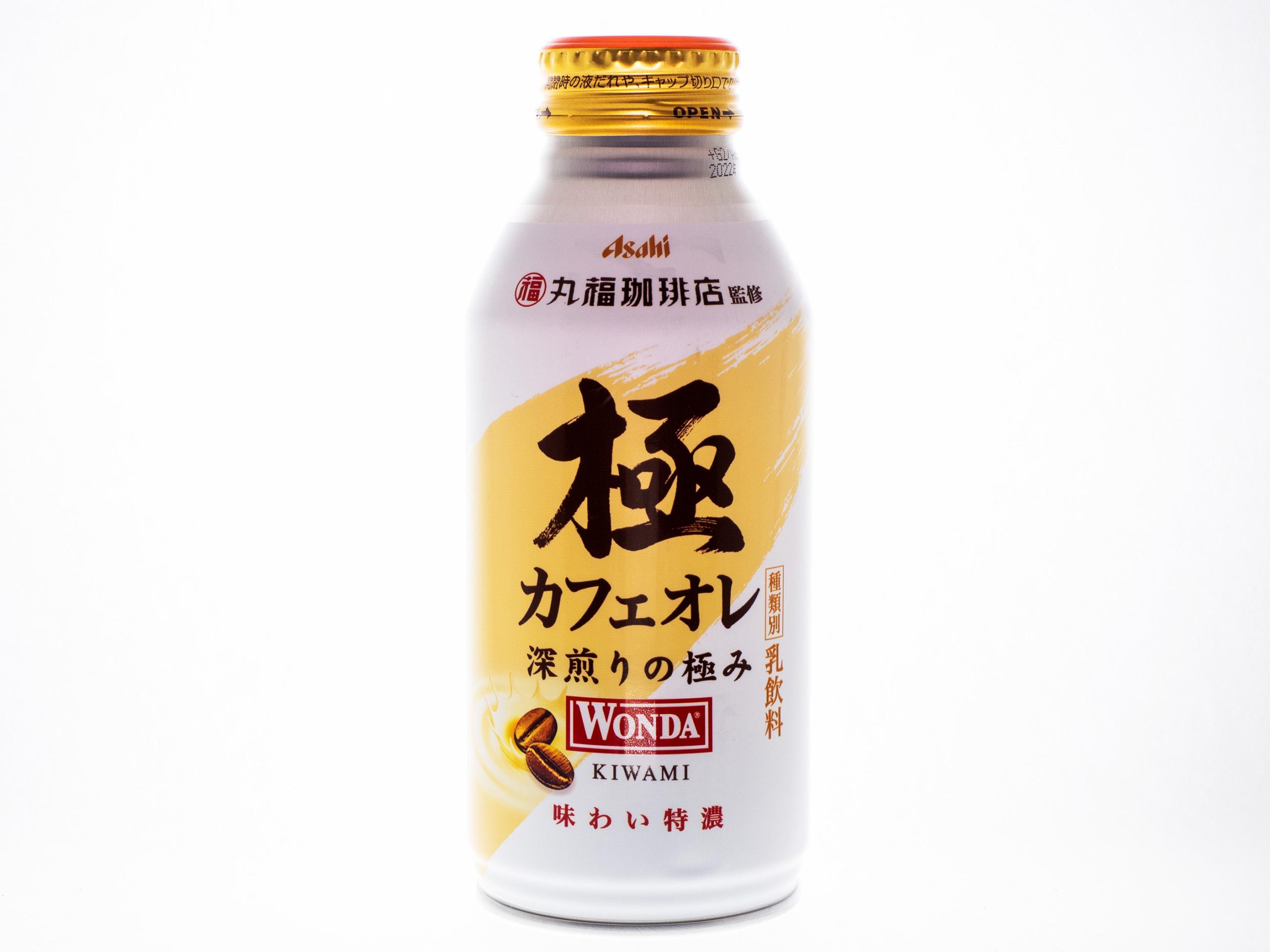 アサヒ飲料 WONDA 極 カフェオレ ボトル缶370g