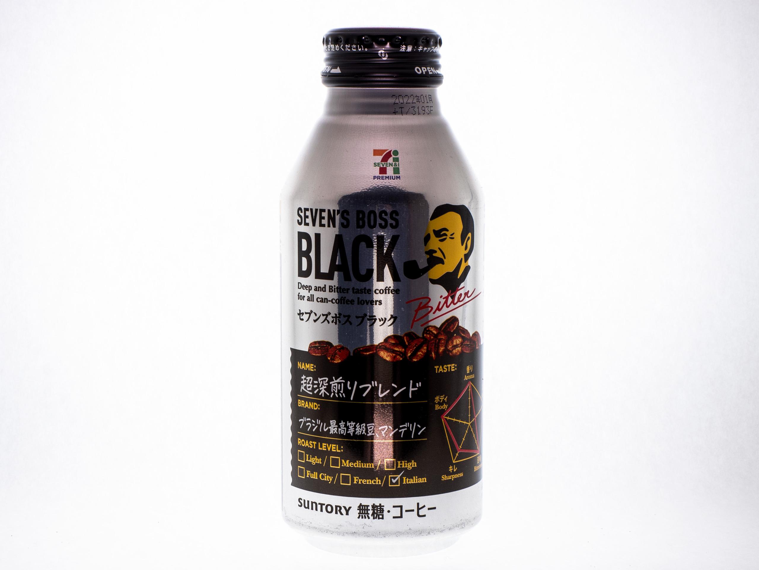サントリーフーズ SEVEN'S BOSS ブラック 390gボトル缶