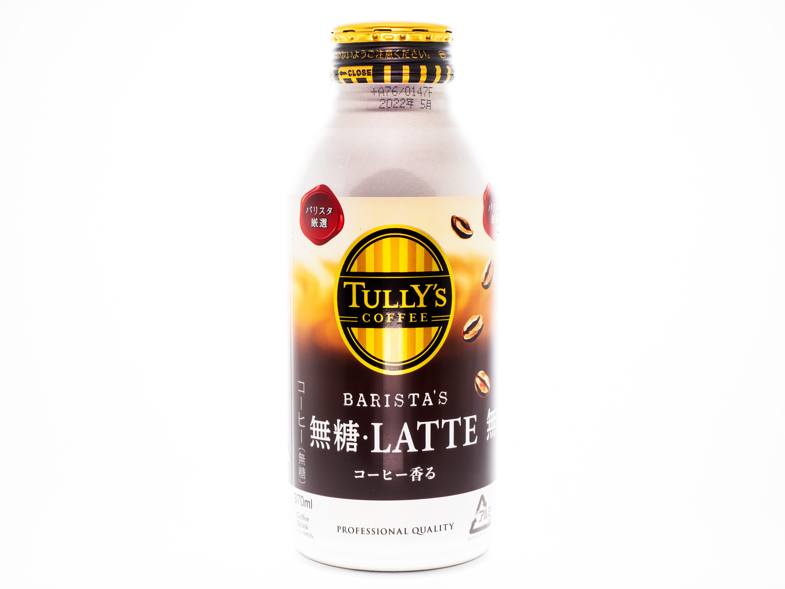 伊藤園 TULLY'S COFFEE BARISTA'S 無糖LATTE ボトル缶370g